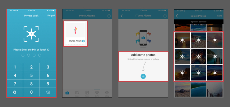 How to hide photos on Android using Vault App